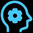 head engineering icon blue