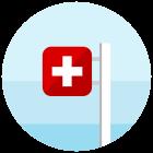 swiss flag circle icon