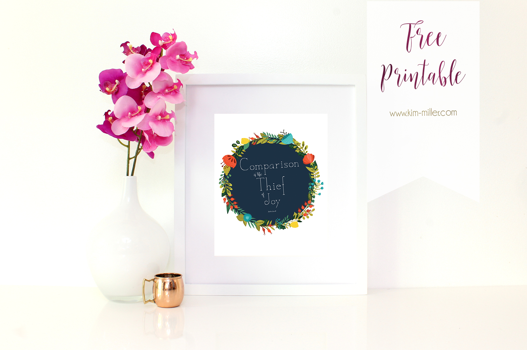 Free Printable, Comparison is the thief of Joy, Theodore Roosevelt Quotes, Inspirational Prints, Inspirational Quotes, Freebie Friday