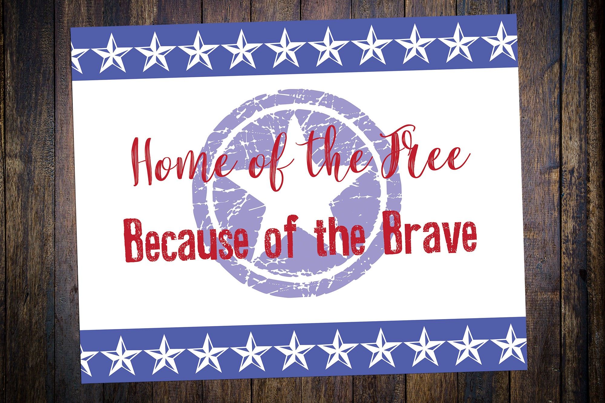 Free Patriotic Printable. Memorial Day Printable, Patriotic Prints, Home of the free because of the brave