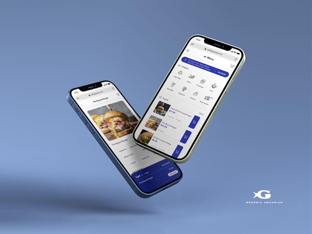 Cafe Aquaria Pre-Ordering App Design