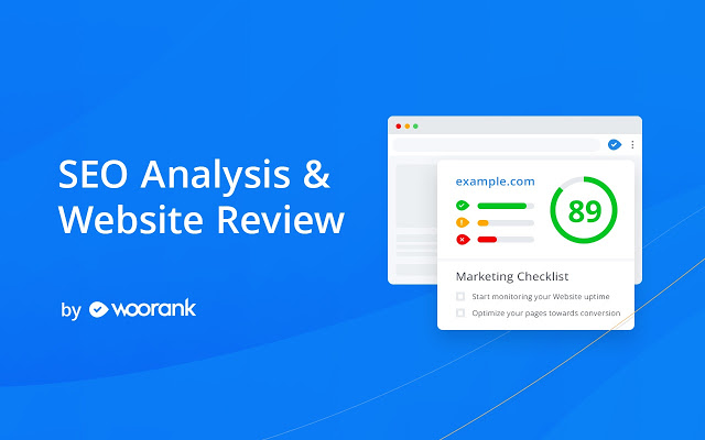 One of the most useful Chrome extensions for entrepreneurs is WooRank. It helps you with SEO
