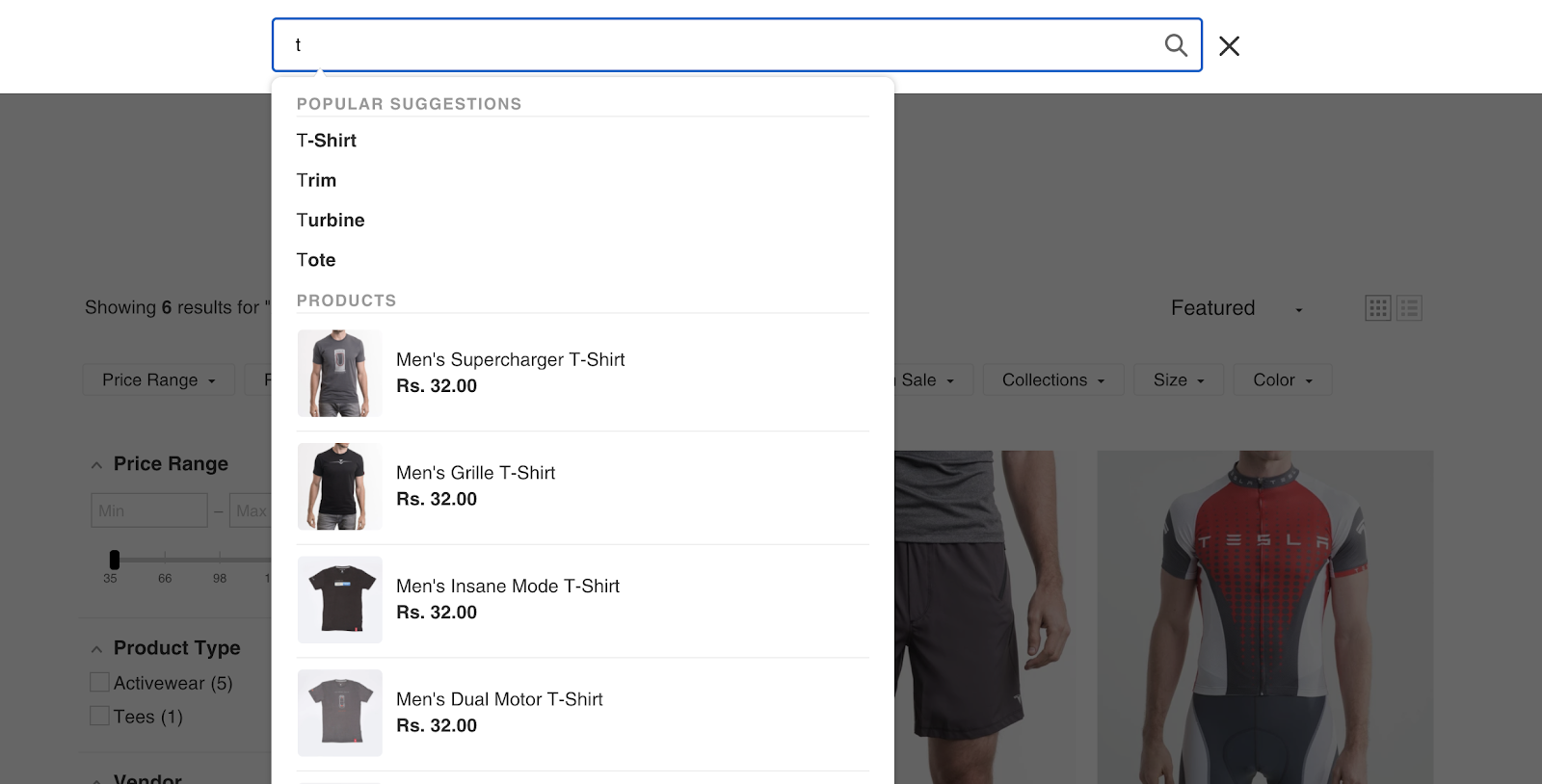 An enhanced search bar is one of the simplest yet most effective ways to connect customers with what they are looking for!