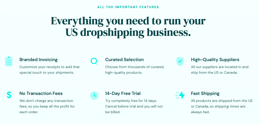 DropCommerce is the perfect platform to help you manage your dropshipping business. All of our suppliers are from North America.