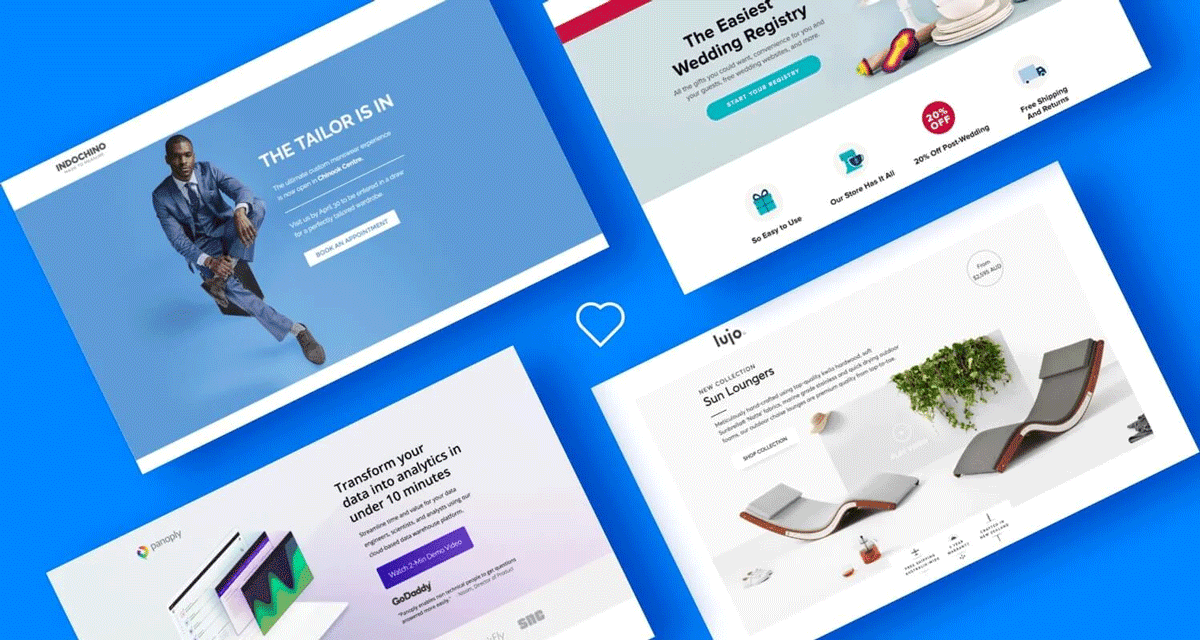 Venture Harbour routinely ranks some of the best landing page builder designs to help inspire you.