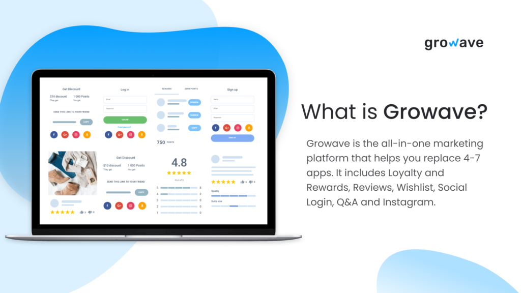 Growave is an awesome Shopify reviews app that has a bunch of other apps built in.