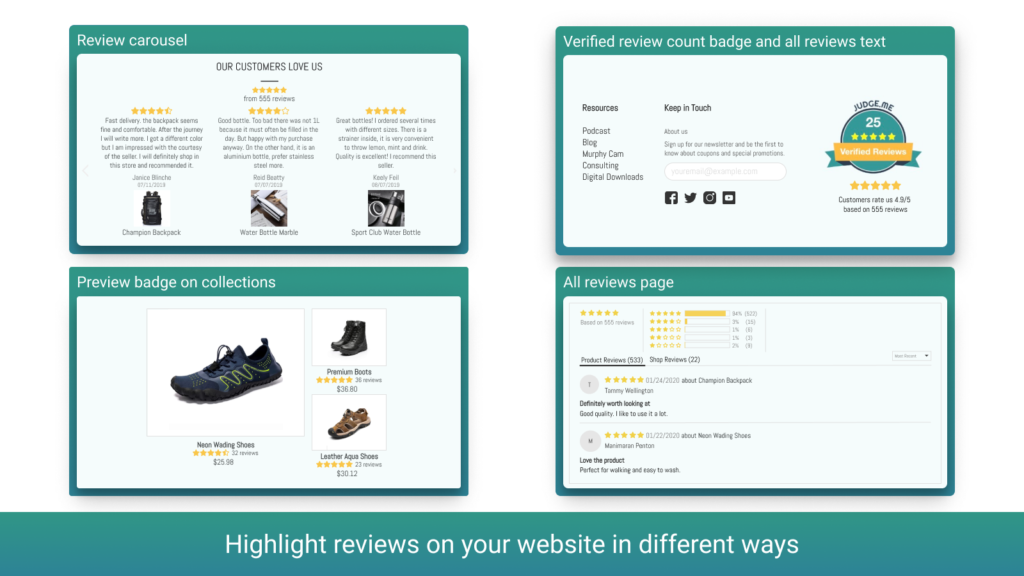 Judge.Me is one of the best Shopify review apps on the market.