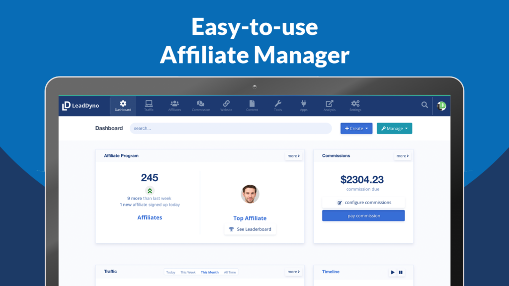 LeadDyno is a Shopify Affiliate Marketing app that comes loaded with features and integrations.