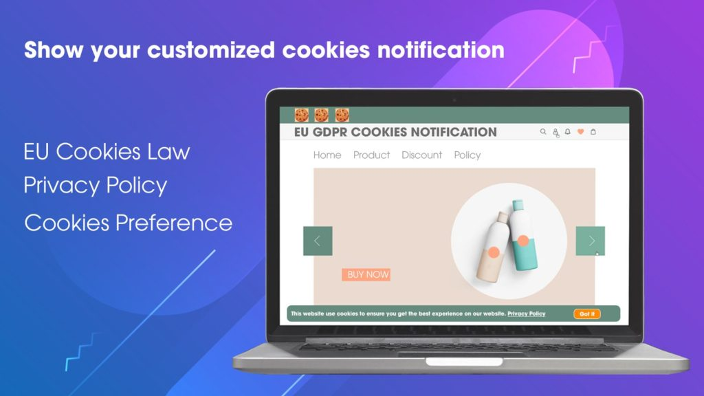 EU GDPR Cookies Notification, a free Shopify app