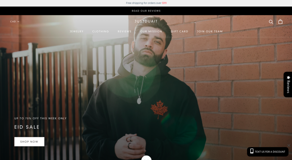 JustDuaIt is a creative ecommerce brand from Canada that blends Canadian and Islamic identities into apparel and jewelry.