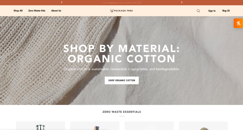 Package Free is an excellent Shopify store that is taking advantage of the recent push for sustainable alternatives for household products