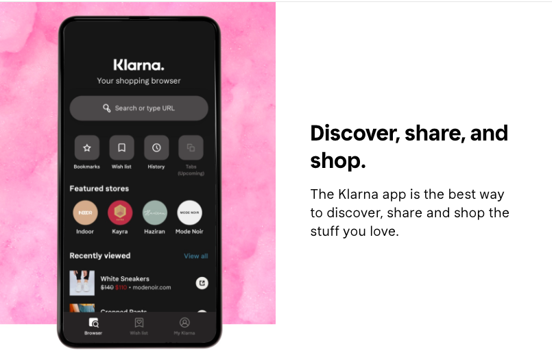 The Klarna mobile app has over 10 Million downloads on Google Play, and many more on the Apple App Store.