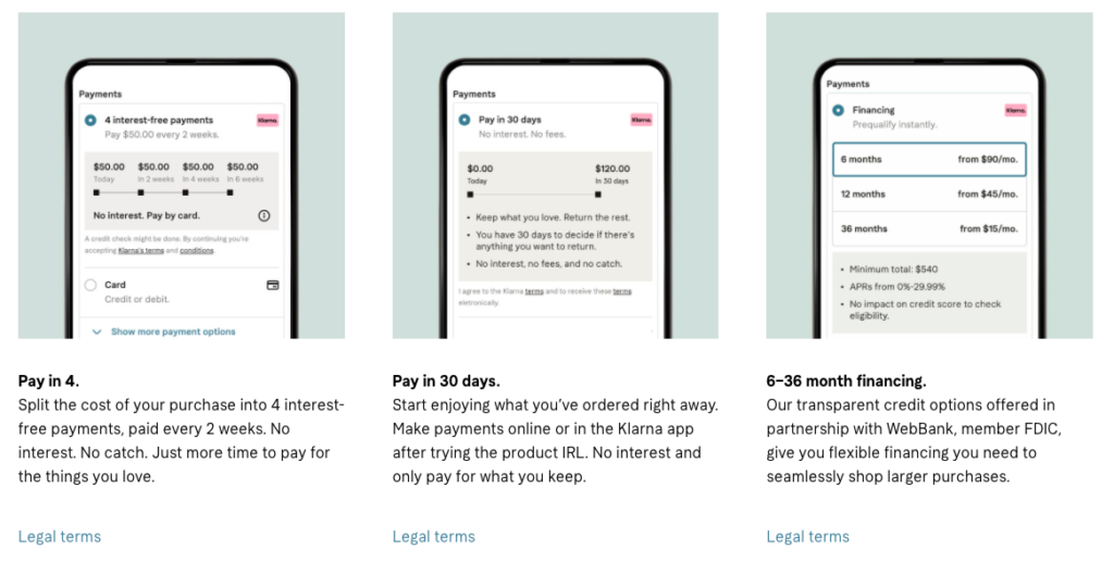 In the Afterpay vs Klarna race, we recommend you go with Klarna for your online store!