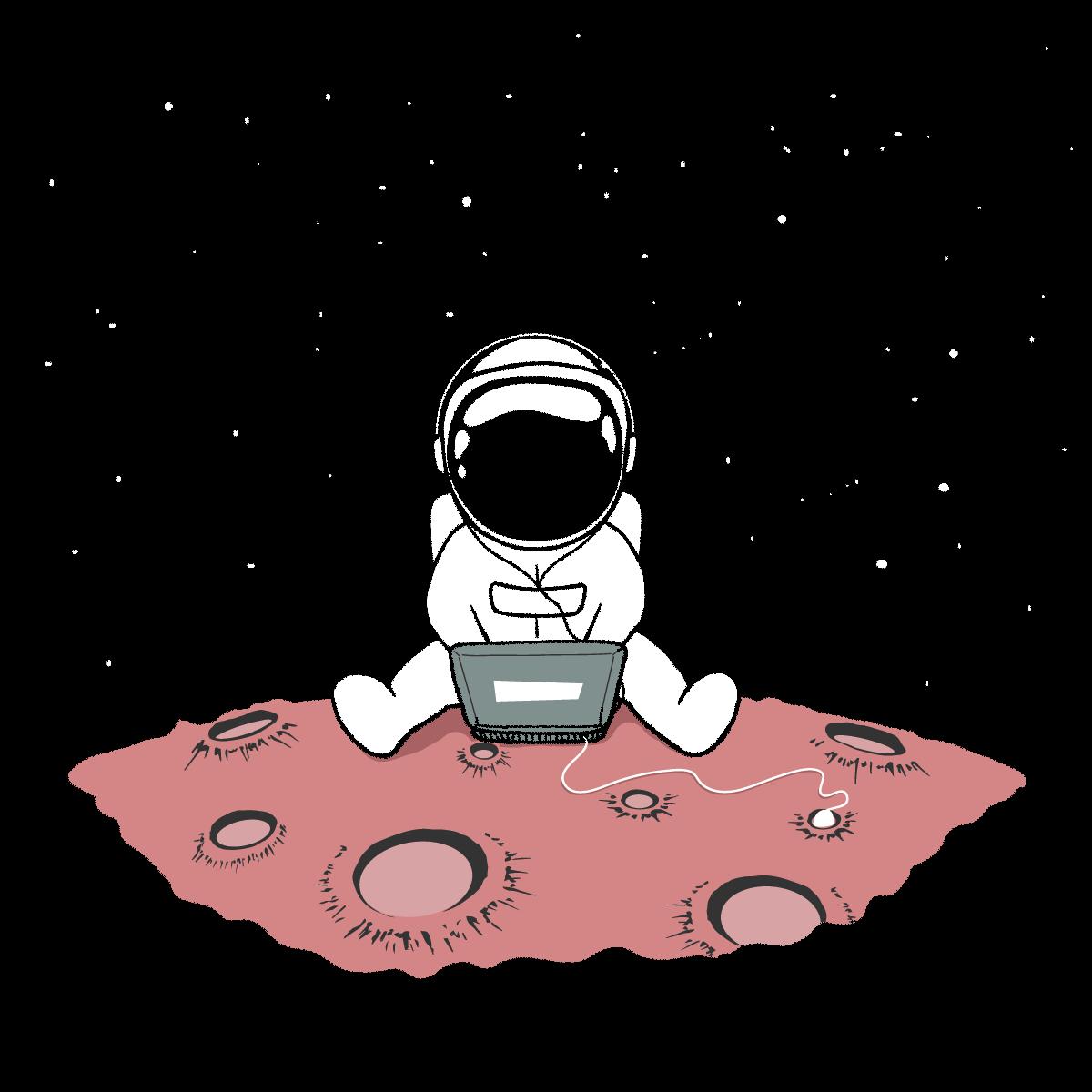 Astronaut using Web App