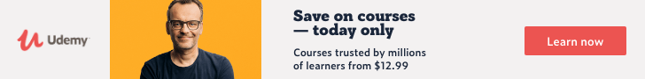 Save on courses — today only. Courses trusted by millions of learners from $12.99