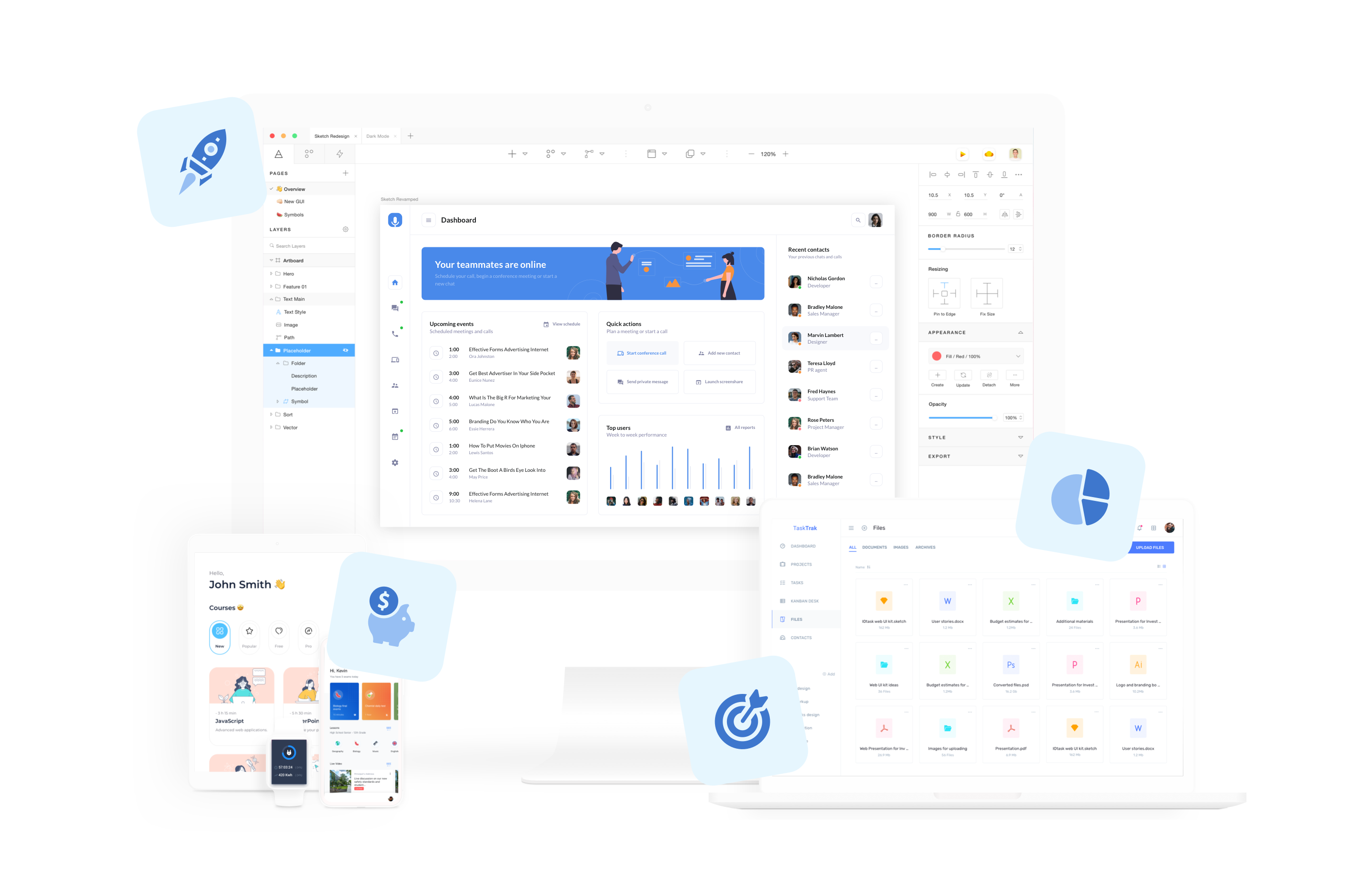 A suite of digital products designed for the finance industry.