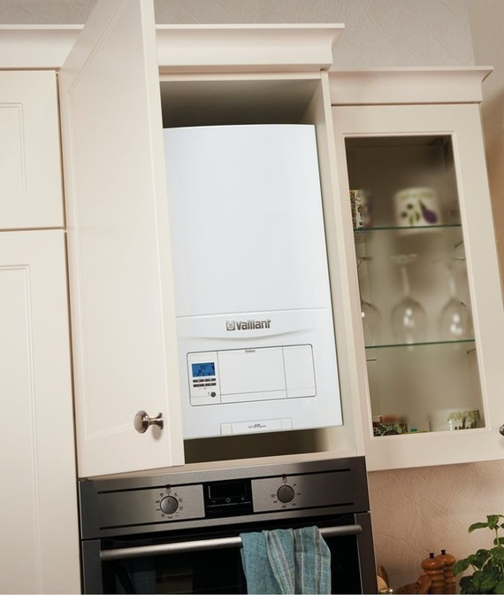 combi boiler kitchen installation