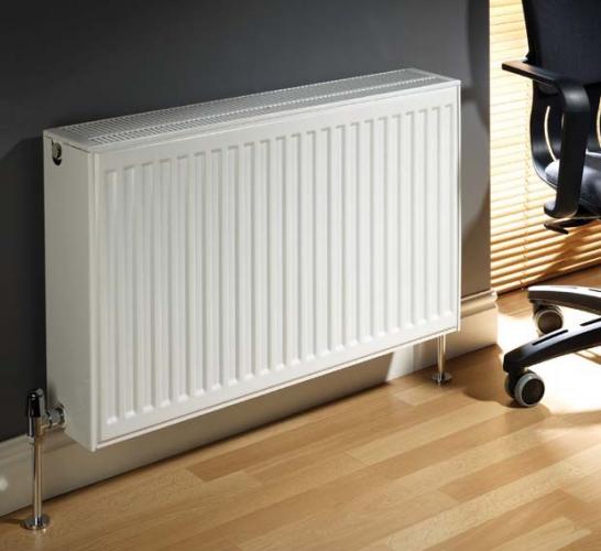 stelrad radiator installation in an office