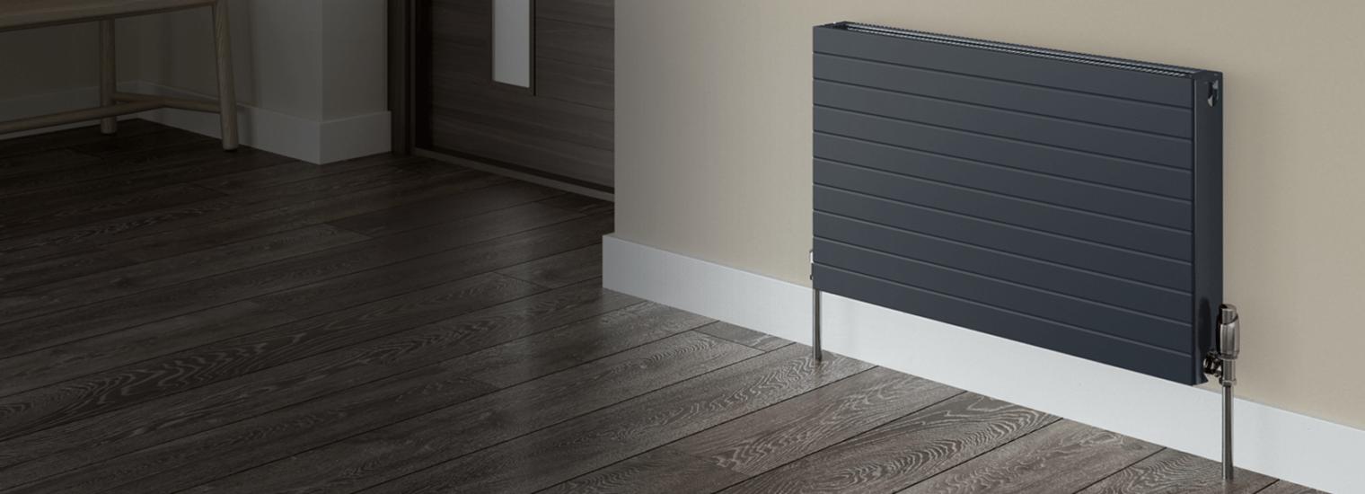 vita grey radiator in kitchen