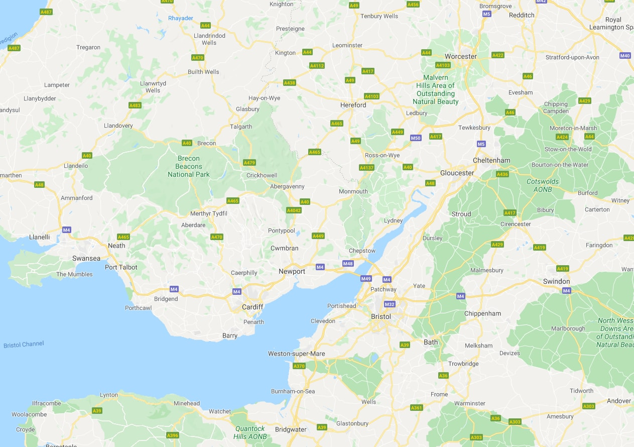 peter o'neill services south wales areas covered map