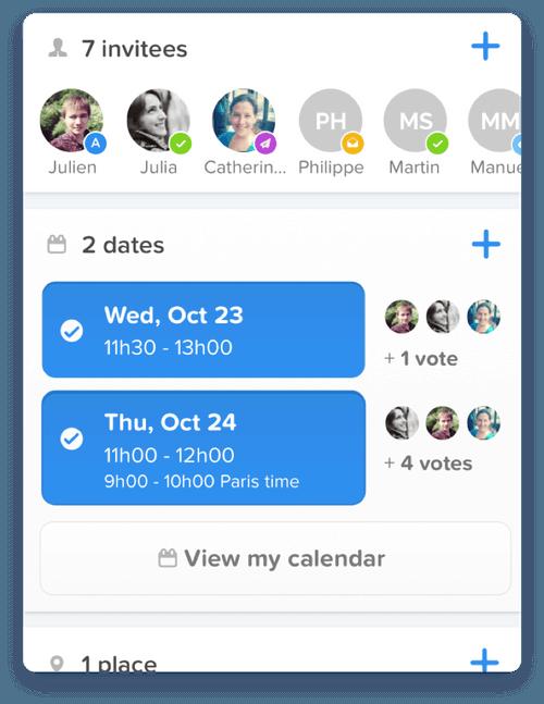 Vyte iOS Interface