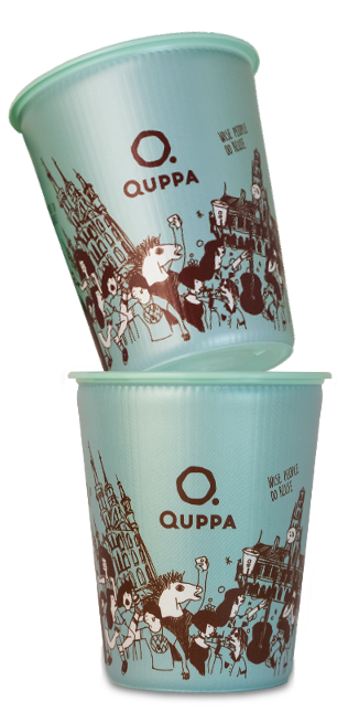 Quppa cups stacked on each other