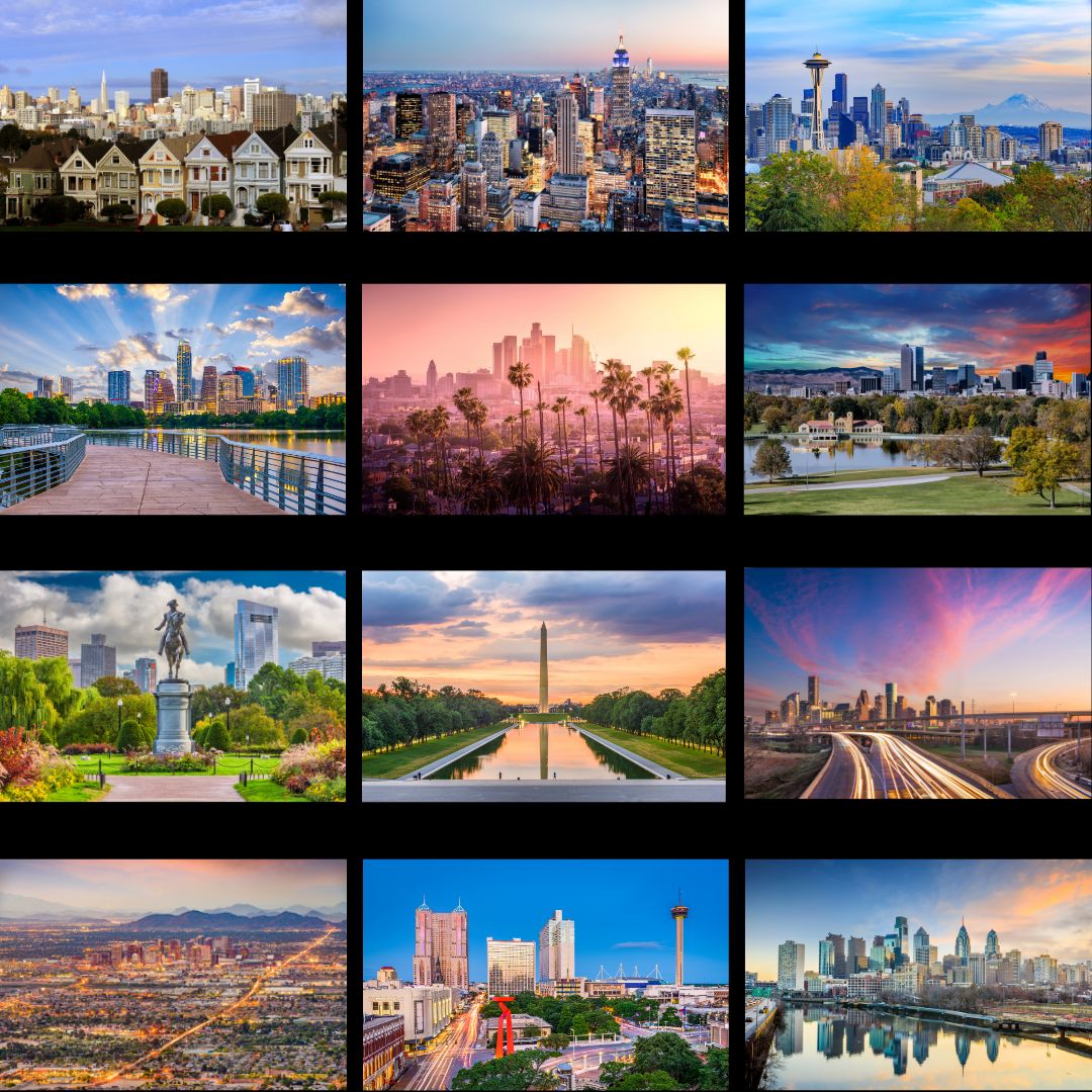 Collage of scenic locations