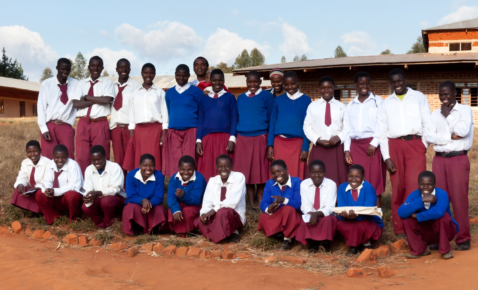 Students taking a group photo