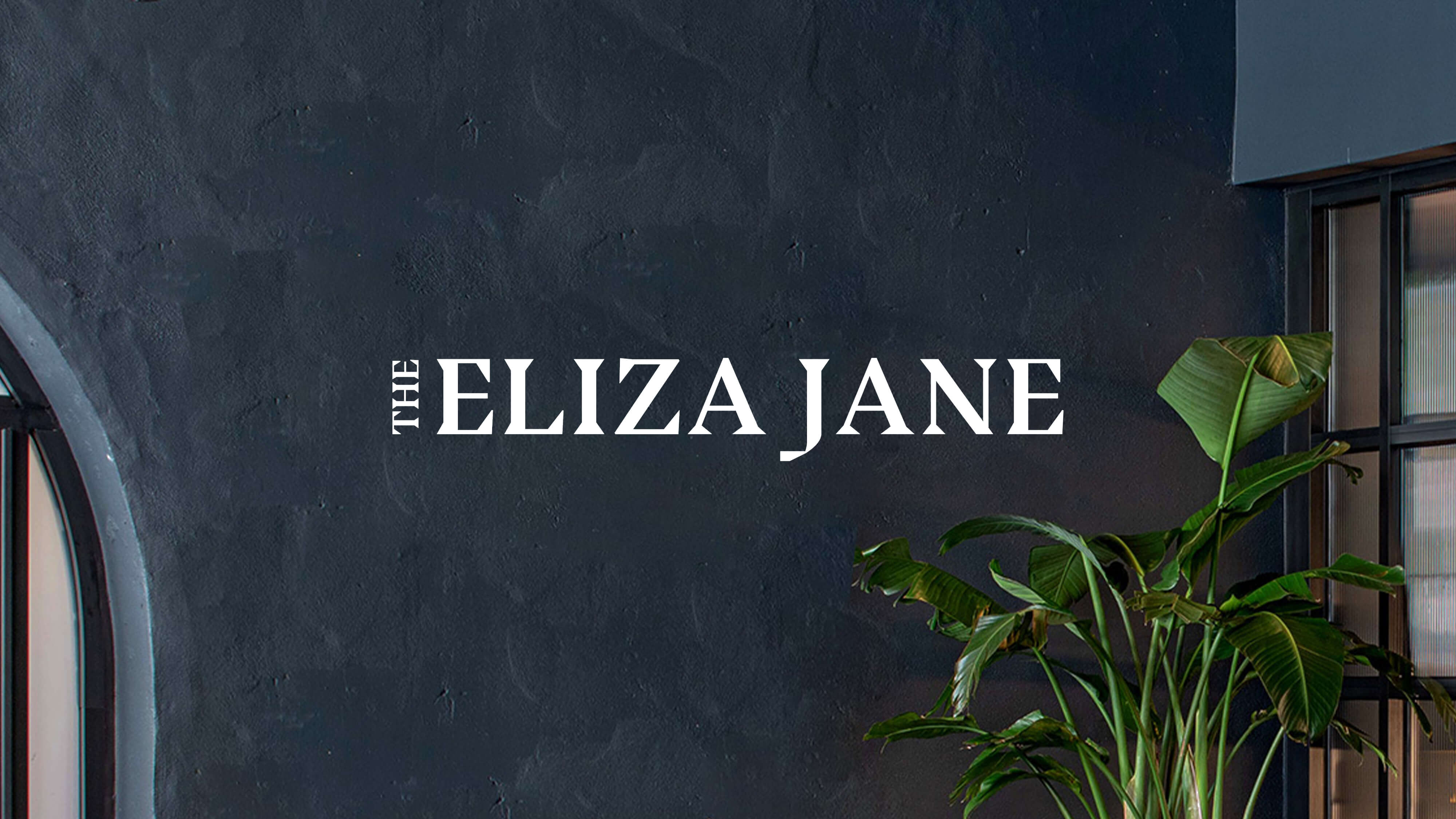 The Liz logo overlayed on a photo featuring green leaves in a simple vase