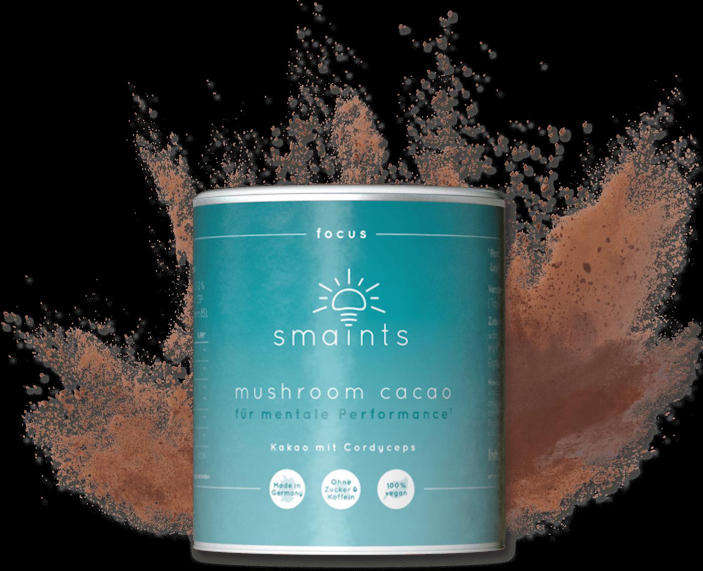 smaints focus mushroom cacao
