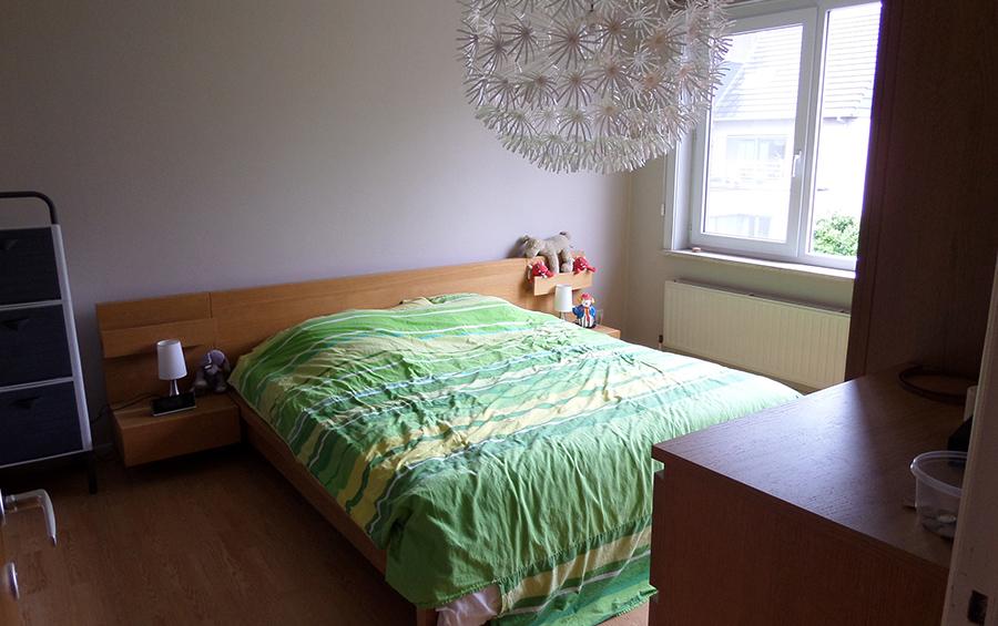 De slaapkamer van de woning