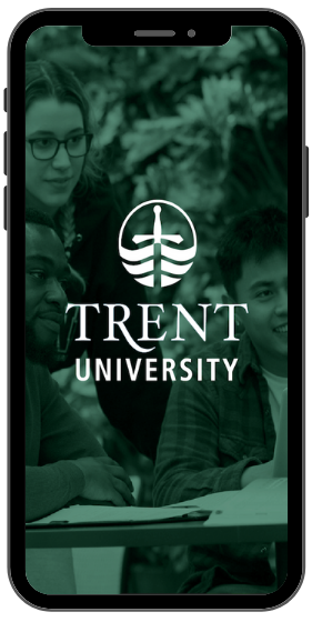 Smartphone screenshot of the Trent Mobile App