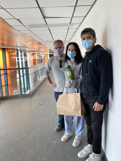 Students wearing masks at the Trent University Durham GTA campus.