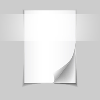 An open book on grey background