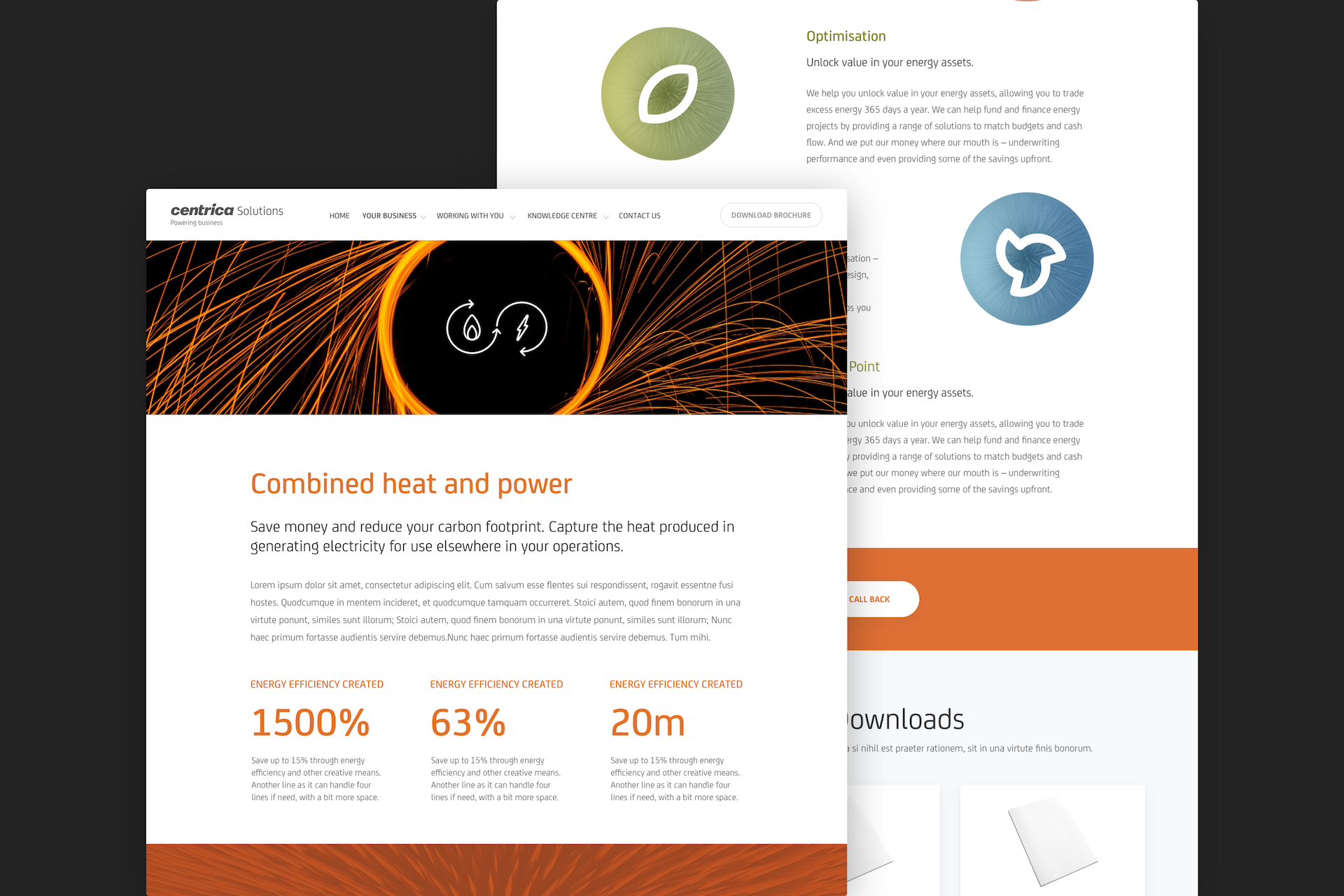Centrica business solutions combined hear and power technology page for web