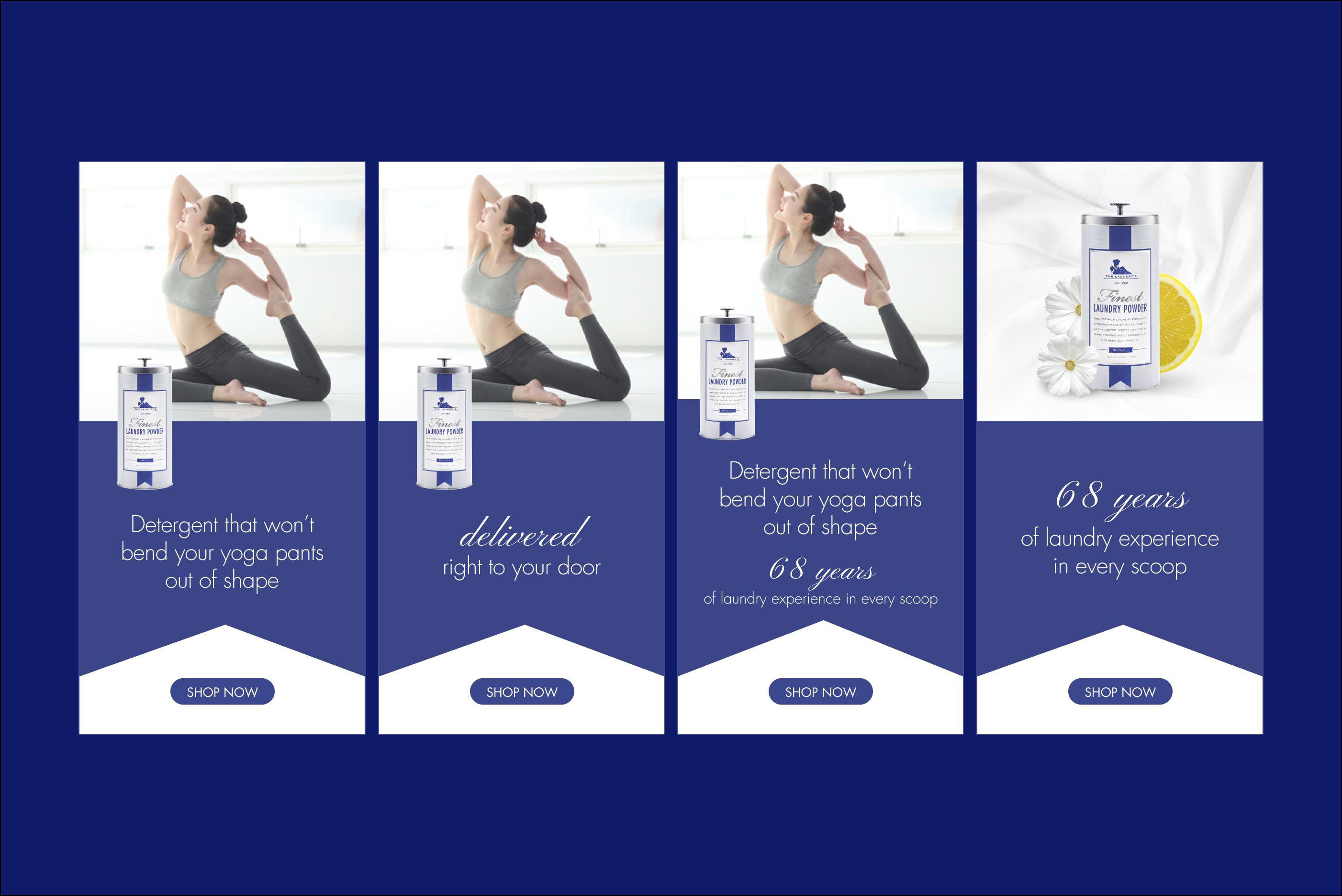 banner ads - yoga