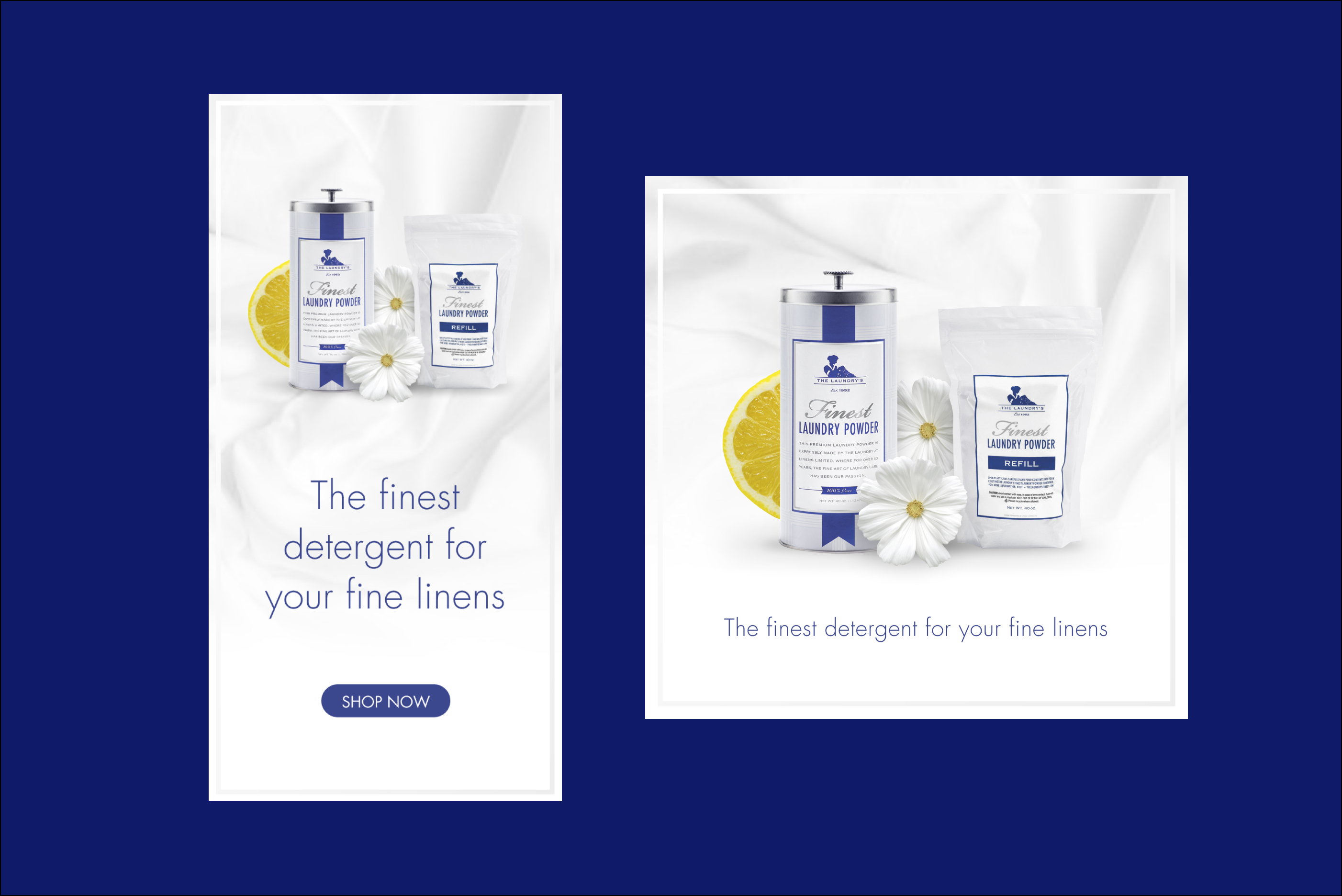 display ads: The finest detergent for your linens