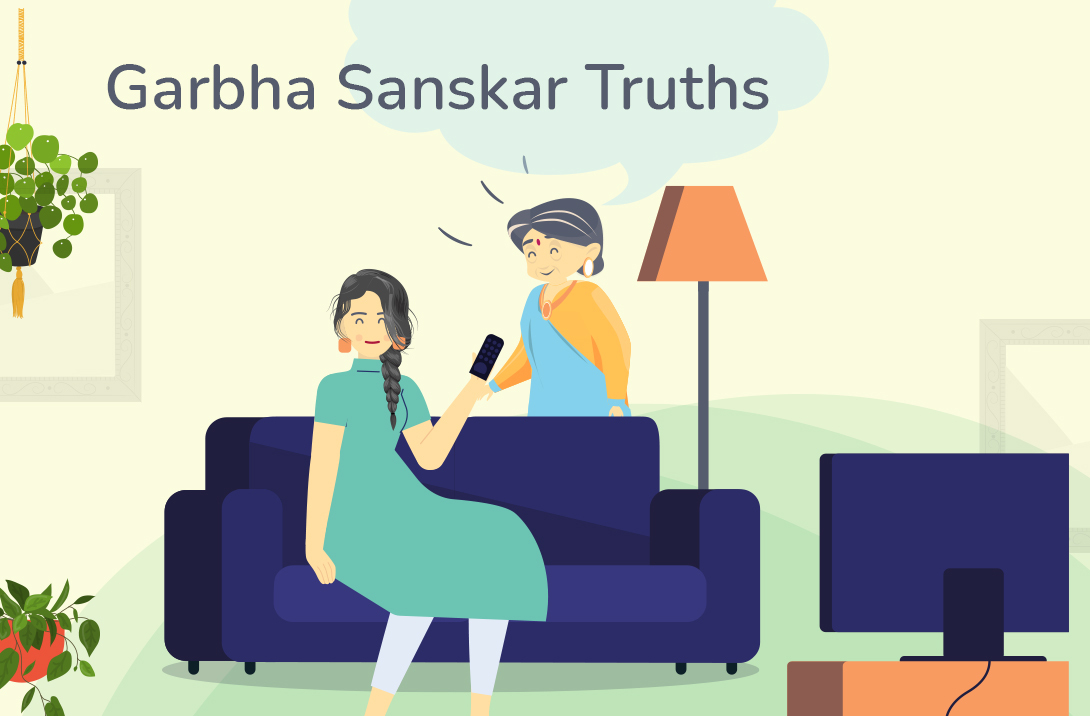 Manpreet, the happy-go-lucky girl is not convinced that what she's listening to or watching is reaching her 16 week old foetus. Her mother-in-law, Lalitha tells her about Garbh Sanskars. Intrigued, she joins an iMumz webinar and learns all about it!