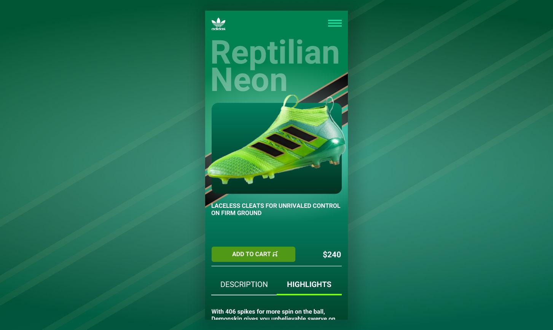 Adidas App Screen