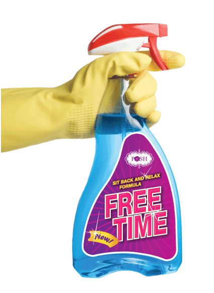 POSH Cleaning Service | POSH Maid Service -POSH Integrity Pricing spray bottle. POSH always provides Flat-Rate Pricing