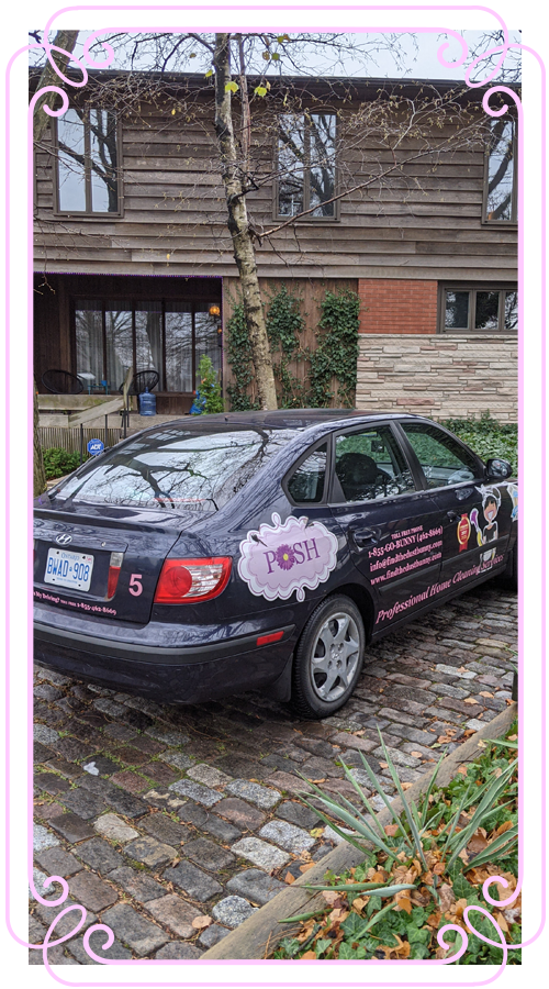 POSH Cleaning Service | POSH Maid Service - POSH vehicle with wrap and advertising on it