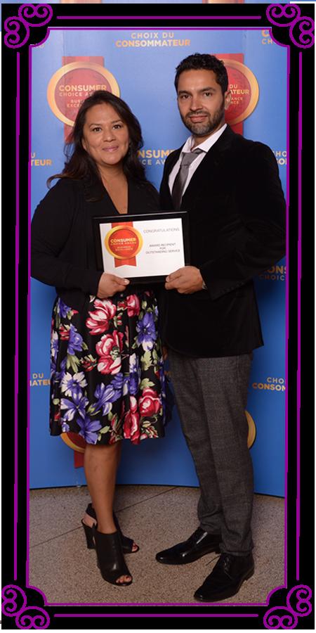 POSH Cleaning Service | POSH Maid Service - Lisa and Ryan posing with an award