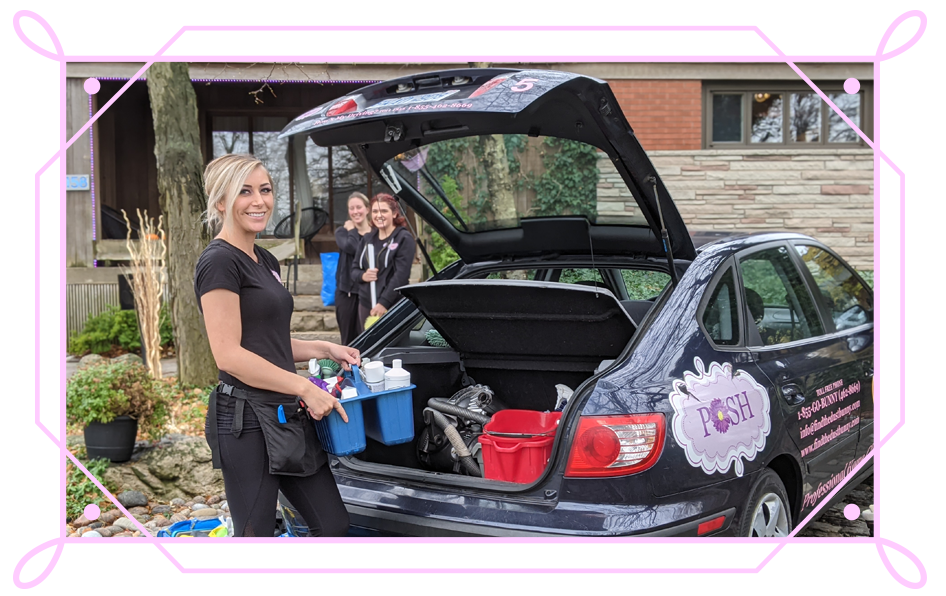 POSH Cleaning Service | POSH Maid Service - POSHployees getting ready to clean