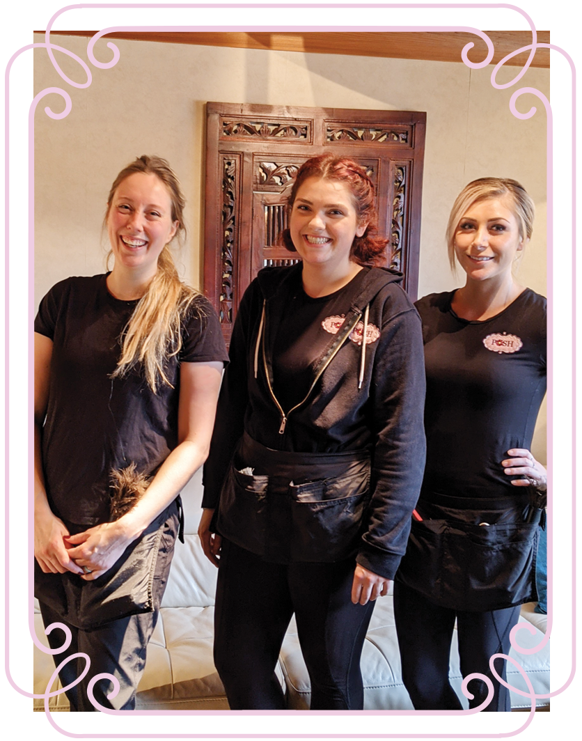 POSH Cleaning Services | POSH Maid Services- 3 POSHployees posing for a picture in their uniforms