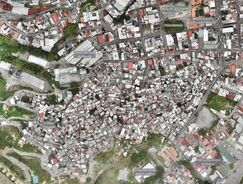 Aerial map of La Palomera and surrounding landmarks