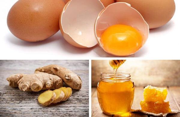 Trứng gà và gừng cải thiện cương cứng của dương vật
