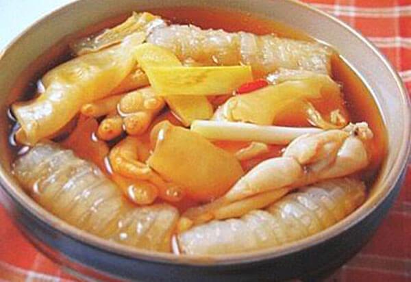 Gừng nấu bóng cá khô cải thiện sinh lý