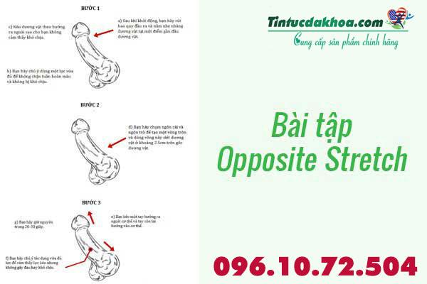 Bài tập tăng kích thước dương vật Opposite Stretch