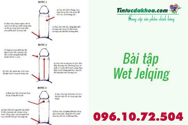 Bài tập tăng kích thước dương vật Wet Jelqing