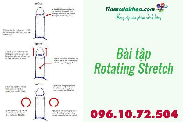 Bài tập tăng kích thước dương vật Rotating Stretch